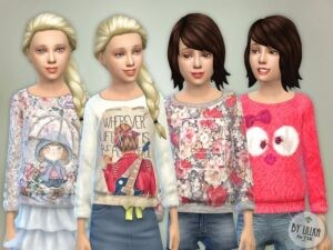 Les Sims 4 automne pull filles