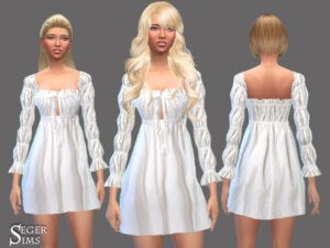 Les Sims 4 robe blanche