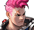 Overwatch portrait Zarya