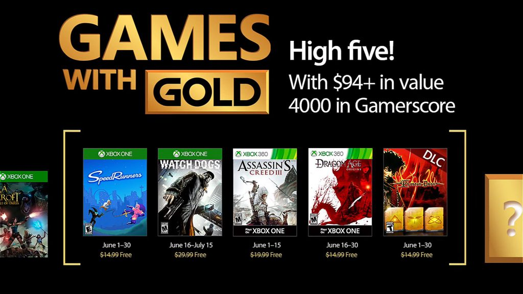 Games with Gold - Xbox Juin 2017