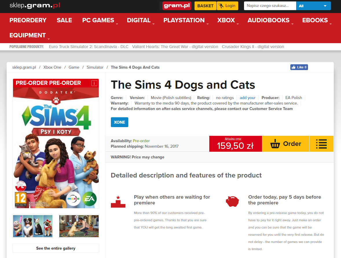 The Sims  Cats Dogs Code
