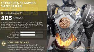 Destiny 2 Cœur des flammes sanctifiées