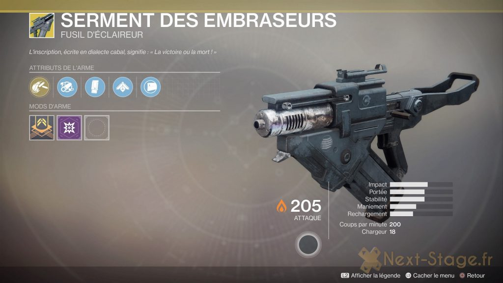 Destiny 2 serment des embraseurs