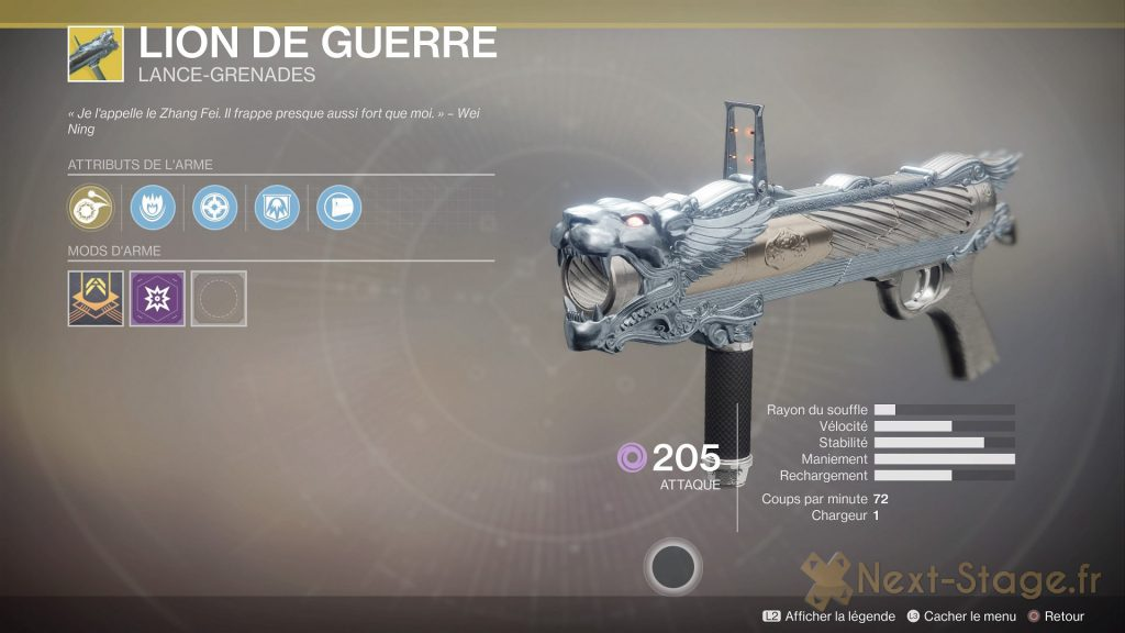 Destiny 2 Lion de guerre