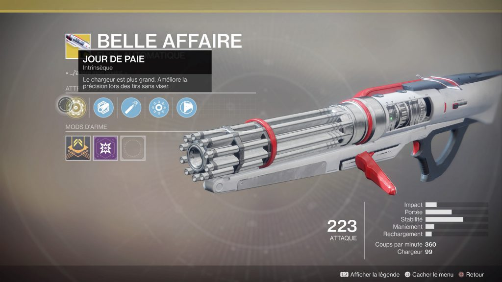 Destiny 2 belle affaire