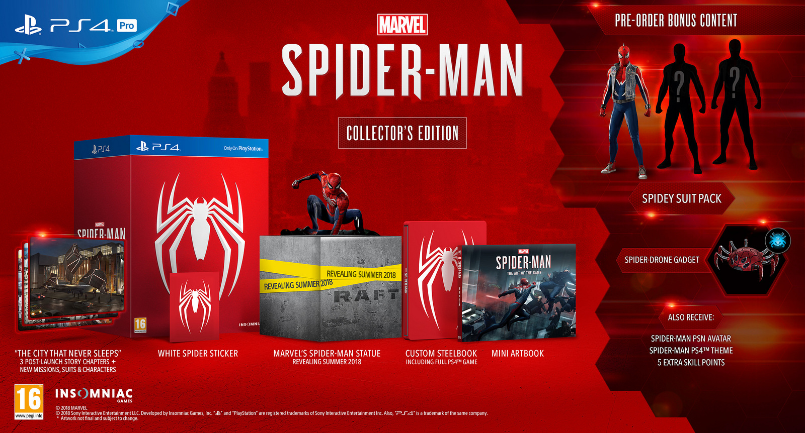 spiderman ps4 collector