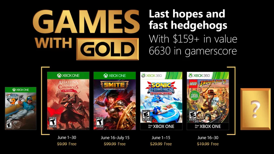 Xbox Game witch gold juin 2018