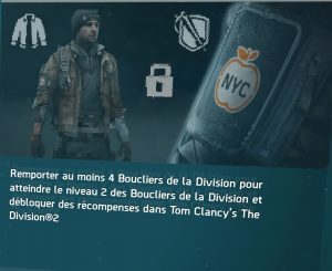 the division bouclier recompense