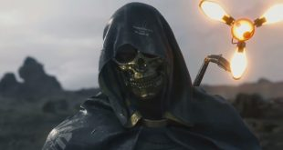 death stranding homme masque d'or