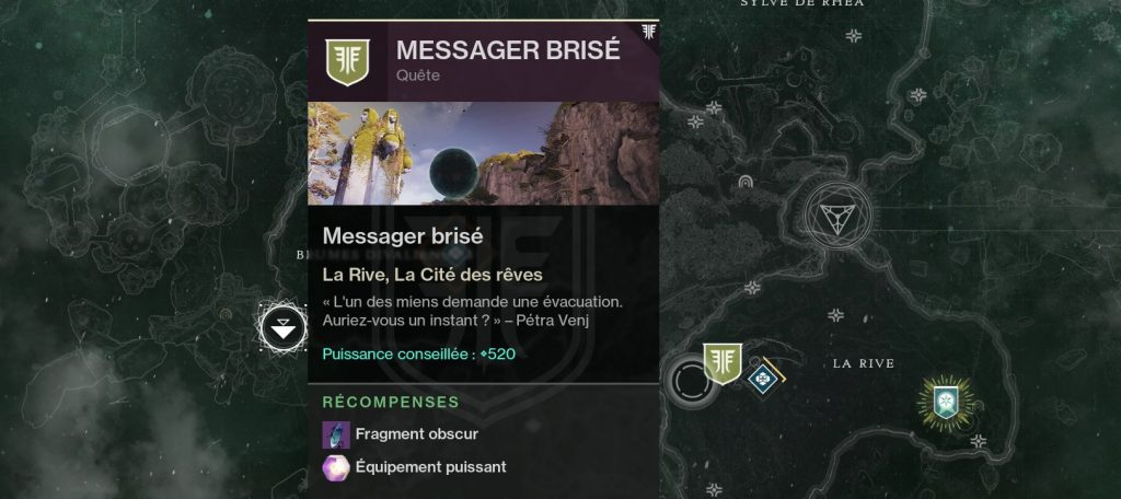 destiny 2 messager brisé