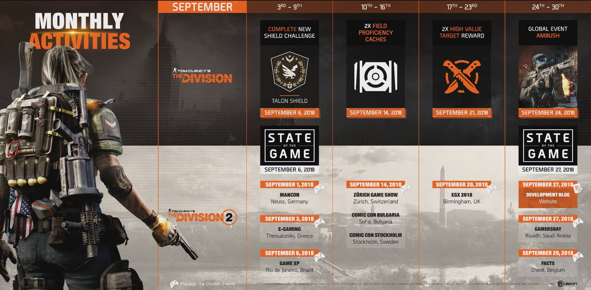 the division 2 feuille de route septembre