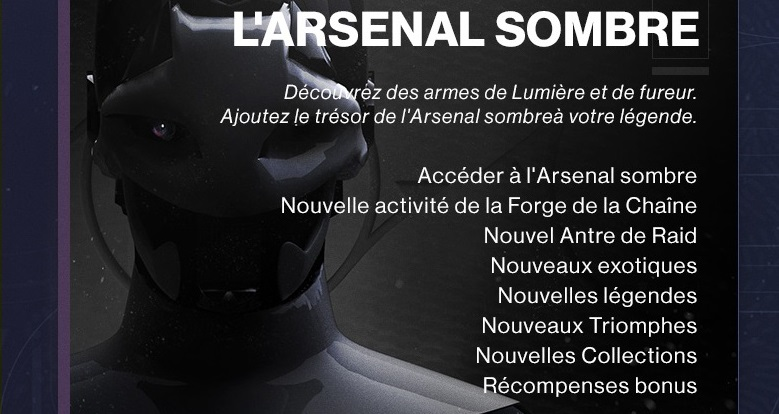 destiny 2 pass annuel arsenal sombre