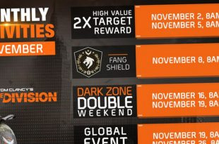 The Division feuille de route novembre