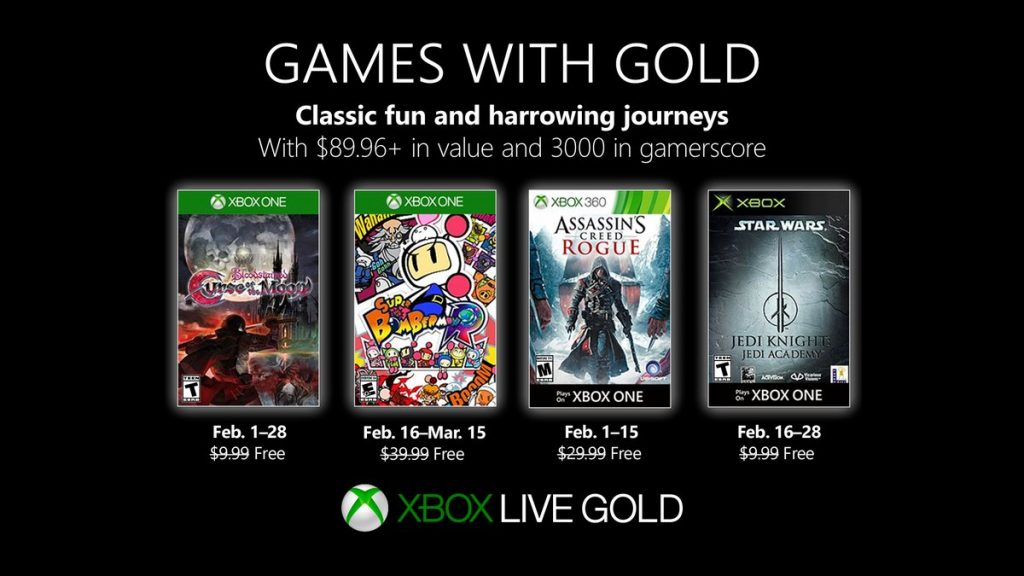 games with gold fevrier 2019