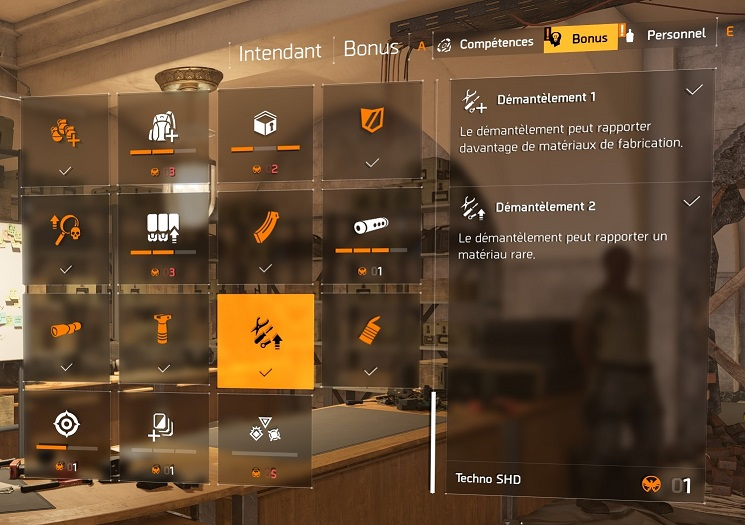 The division 2 perk déconstruction