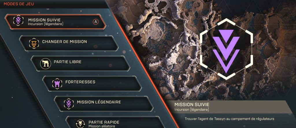 anthem guide mission légendaire