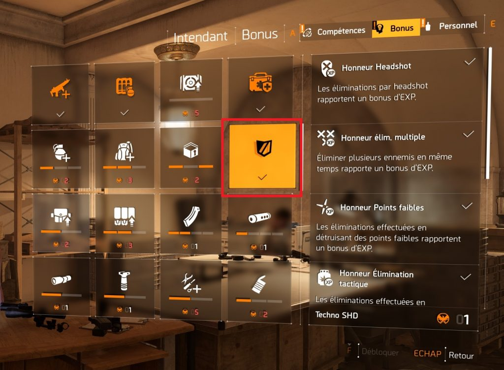 the division 2 guide XP rapide