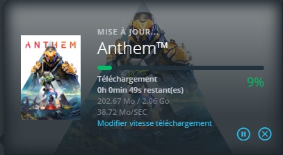 anthem mise à jour 8 avril