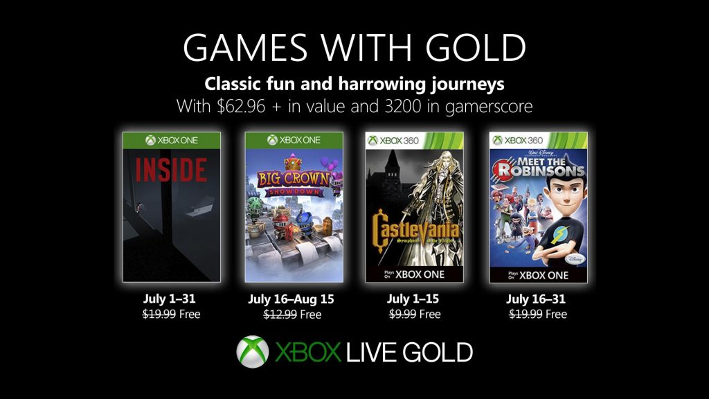 games with gold juillet 2019