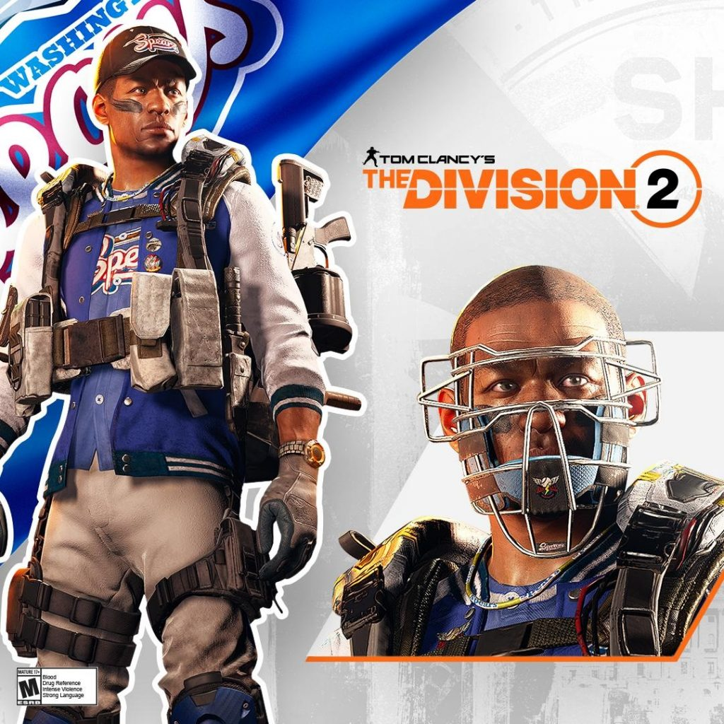 the Division 2 Twitch tenue sport masque baseball
