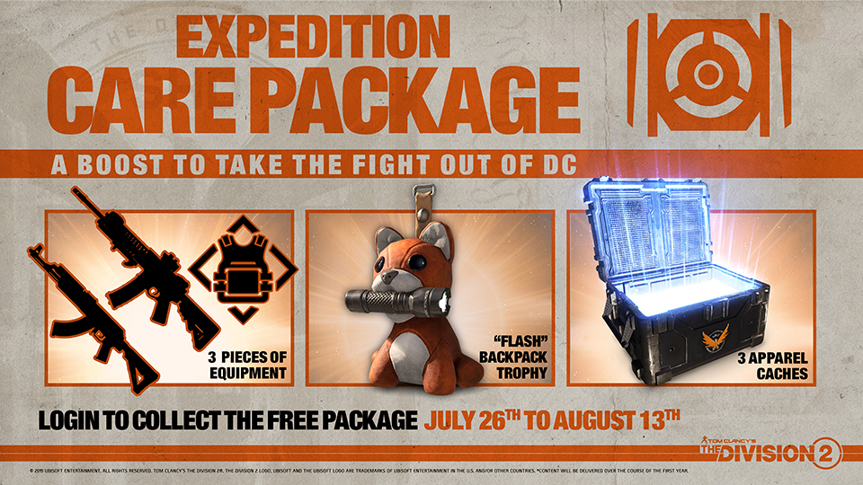 the division 2 pack soins expedition