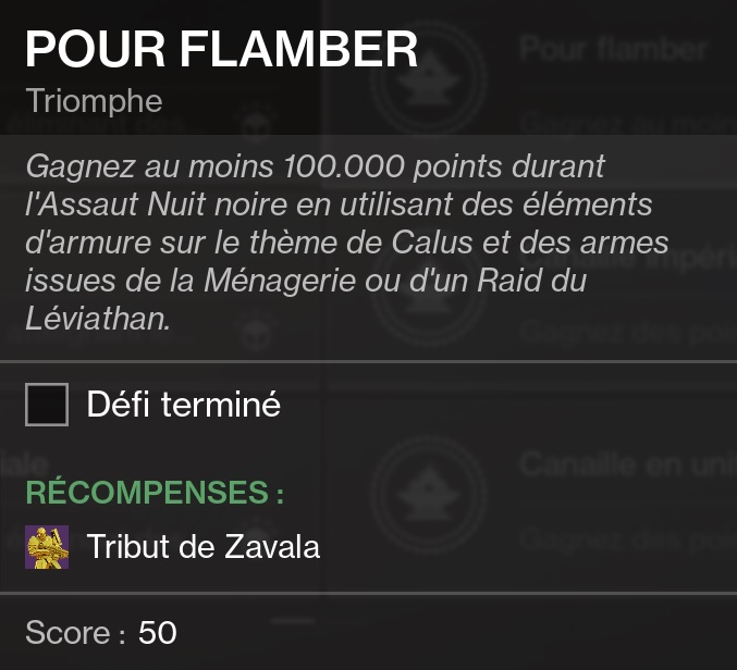 triomphe pour flamber