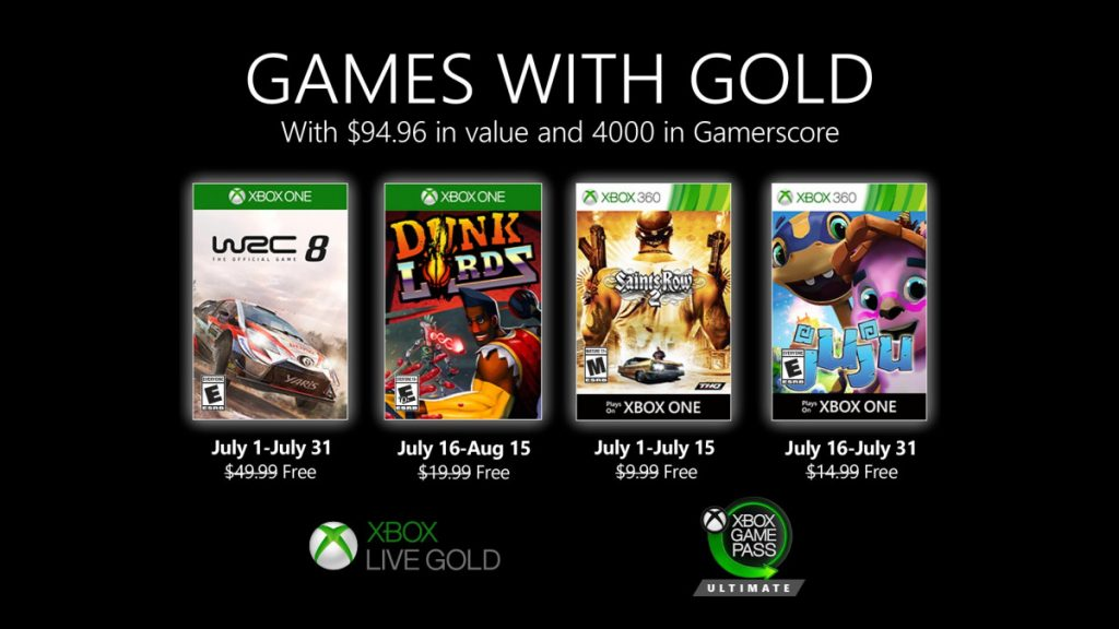 games with gold juillet