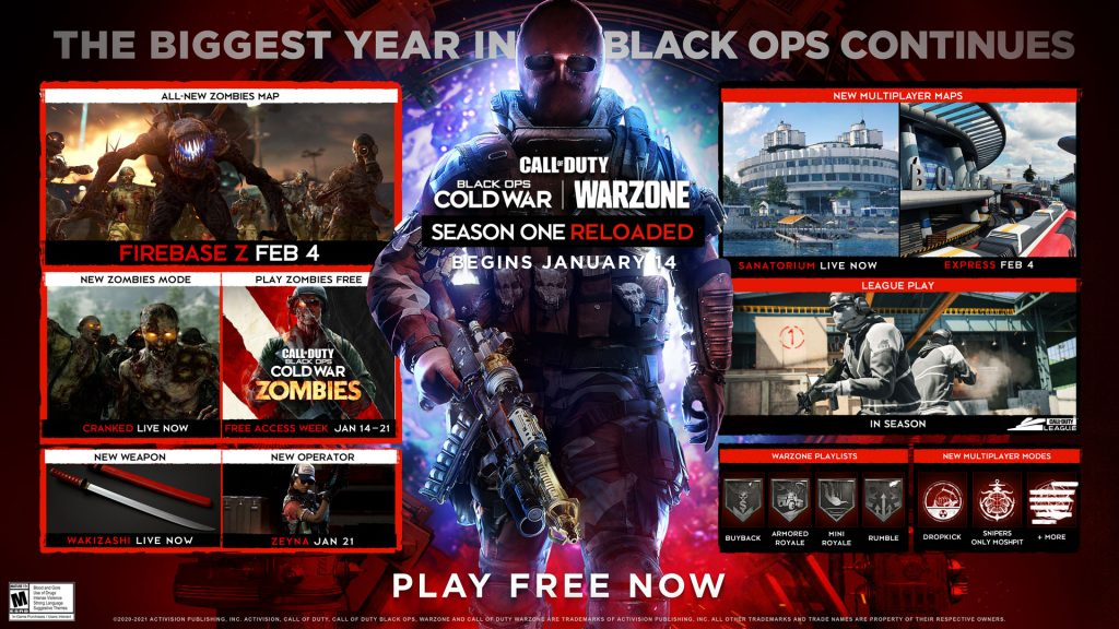 Call Of Duty Cold War  Warzone Saison One Reloaded correctifs week-end gratuit